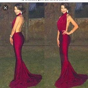 portia and scarlett Dresses - Emerald Satin Gown - Portia and Scarlett